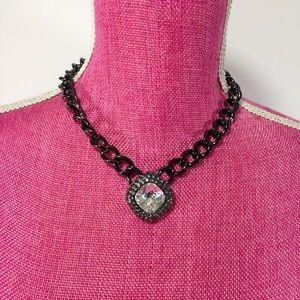Swarovski Crystal Black Chunky Necklace & Bracelet